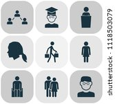 human icons set with smart man  ... | Shutterstock .eps vector #1118503079