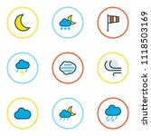 weather icons colored line set... | Shutterstock .eps vector #1118503169