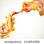 Abstract autumn background with wave,vector illustration for your design - stock vector