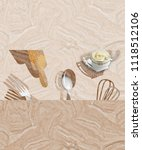 ceramic tile design for kitchen ... | Shutterstock . vector #1118512106