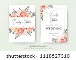wedding floral double... | Shutterstock .eps vector #1118527310