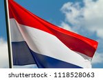 Flag Of The Netherlands Waving...