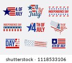 set of badges and labels and... | Shutterstock .eps vector #1118533106