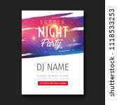 summer night club party flyer... | Shutterstock .eps vector #1118533253