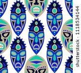 seamless pattern. tribal... | Shutterstock .eps vector #1118534144