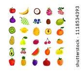 summer children's alphabet with ... | Shutterstock .eps vector #1118534393