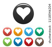 affectionate heart icon. simple ... | Shutterstock . vector #1118546204