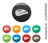 aquatic shell icon. simple... | Shutterstock . vector #1118549204