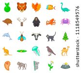 warm blooded icons set. cartoon ... | Shutterstock . vector #1118549576