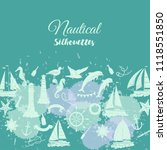 nautical background with... | Shutterstock . vector #1118551850