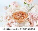 jam from roses  delicate pink....   Shutterstock . vector #1118554004