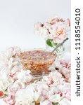 jam from roses  delicate pink....   Shutterstock . vector #1118554010