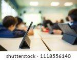 children study in class with... | Shutterstock . vector #1118556140