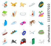 survive icons set. isometric... | Shutterstock . vector #1118557010