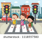 vector illustration of kids... | Shutterstock .eps vector #1118557583