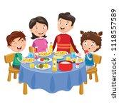 vector illustration of family... | Shutterstock .eps vector #1118557589