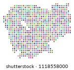 multicolored dotted cambodia... | Shutterstock .eps vector #1118558000