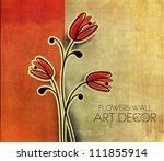 Stock vector vector floral design element background 111855914