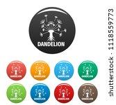spring dandelion logo icon.... | Shutterstock . vector #1118559773