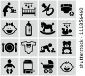 baby icons set. | Shutterstock .eps vector #111856460