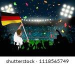 supporter hold germany flag... | Shutterstock .eps vector #1118565749