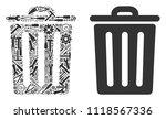 trash bin collage of service...   Shutterstock .eps vector #1118567336