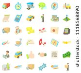 shipment icons set. cartoon... | Shutterstock . vector #1118568890