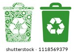 recycle bin mosaic of workshop... | Shutterstock .eps vector #1118569379