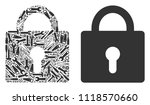 lock composition of service... | Shutterstock .eps vector #1118570660