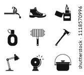 ignition icons set. simple set... | Shutterstock . vector #1118570996