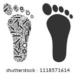 human footprint composition of...   Shutterstock .eps vector #1118571614