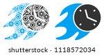 fire deadline clock mosaic of... | Shutterstock .eps vector #1118572034