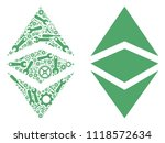 ethereum classic mosaic of... | Shutterstock .eps vector #1118572634