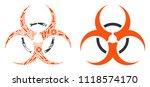 bio hazard collage of repair... | Shutterstock .eps vector #1118574170