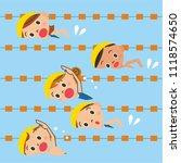 children swimming in the pool | Shutterstock .eps vector #1118574650