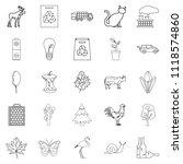 urbanization icons set. outline ... | Shutterstock . vector #1118574860