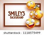 smileys vector background... | Shutterstock .eps vector #1118575499