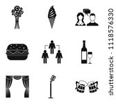 occasion icons set. simple set... | Shutterstock . vector #1118576330