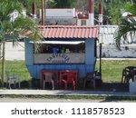 costa maya  mexico january 2018 ...   Shutterstock . vector #1118578523