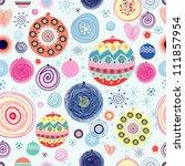 christmas balls texture | Shutterstock .eps vector #111857954