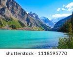 turquoise blue water in deep... | Shutterstock . vector #1118595770