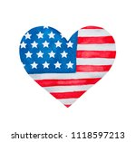 Heart Shaped Flag Of Unites...