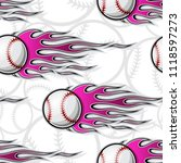 baseball softball ball seamless ... | Shutterstock .eps vector #1118597273