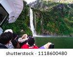 a group of tourists enjoying a... | Shutterstock . vector #1118600480