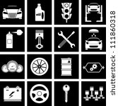 vector illustration of icons on ... | Shutterstock .eps vector #111860318