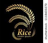 grain organic natural product ... | Shutterstock .eps vector #1118603270
