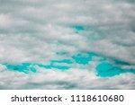 double exposure of cloud and... | Shutterstock . vector #1118610680