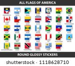 flags of all countries of... | Shutterstock .eps vector #1118628710