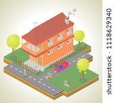 isometric of my house... | Shutterstock .eps vector #1118629340