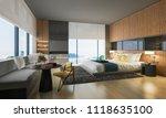 3d rendering nice sea view... | Shutterstock . vector #1118635100